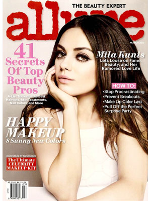 Allure March 2013 Mila Kunis