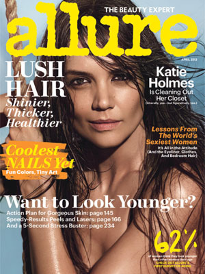 Katie Holmes, Allure Magazine, April 2013