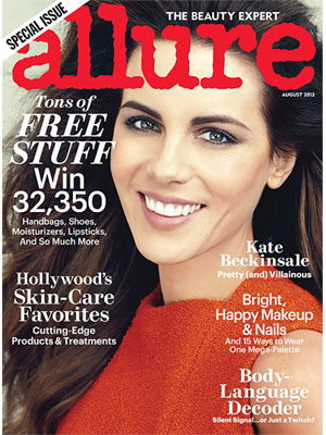 Allure, August 2012, Kate Beckinsale