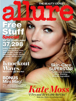 Allure August 2013 Kate Moss