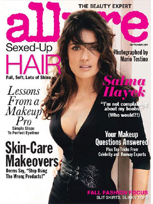 Allure, September 2011, Salma Hayek