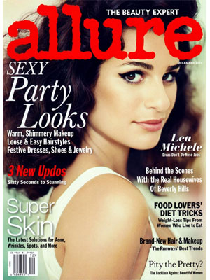 Lea Michele, Allure Magazine, December 2011