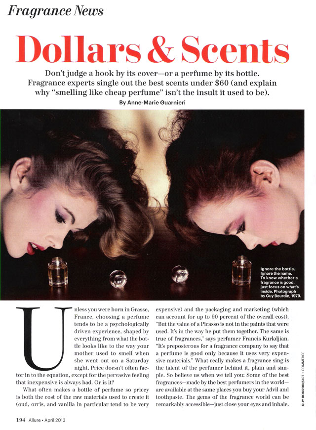 Dollars and Scents, Allure April 2013