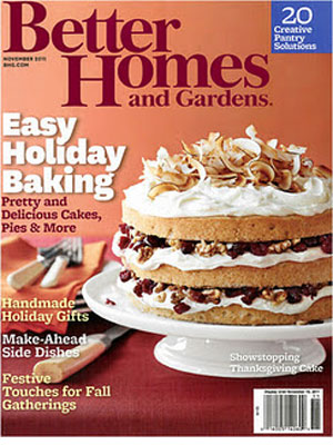 Better Homes and Gardens, November 2011