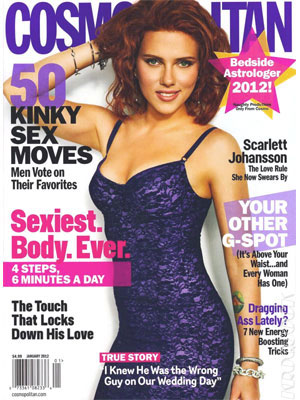 Scarlett Johansson, Cosmopolitan Magazine, January 2012