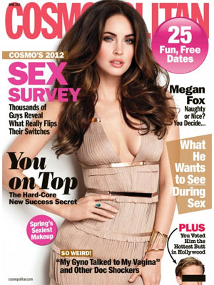 Cosmopolitan, April 2012, Megan Fox