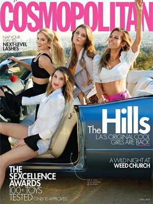 Cosmopolitan April 2019 The Hills Heidi Pratt, Whitney Port, Audrina Patridge, Mischa Barton