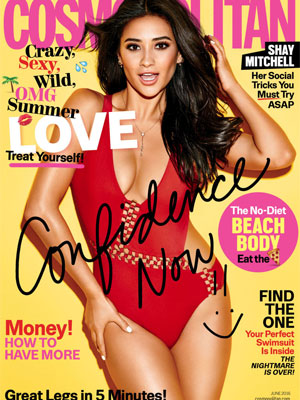 Shay Mitchell Cosmopolitan Magazine June 2016