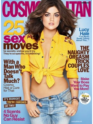 Cosmopolitan, September 2012, Lucy Hale