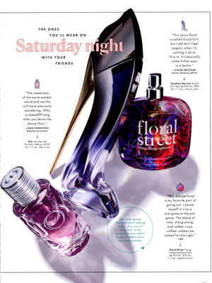Dior Joy Intense Perfume editorial Cosmopolitan