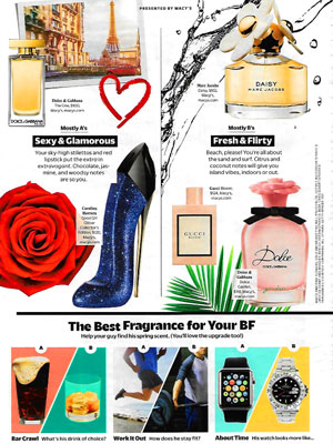 Dolce & Gabbana The One Eau de Toilette Perfume editorial Cosmopolitan