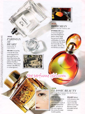 My Burberry Perfume editorial Cosmo Message in a Bottle