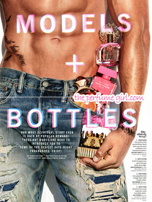 Paco Rabanne Olympea Intense Perfume editorial Cosmo Models + Bottles