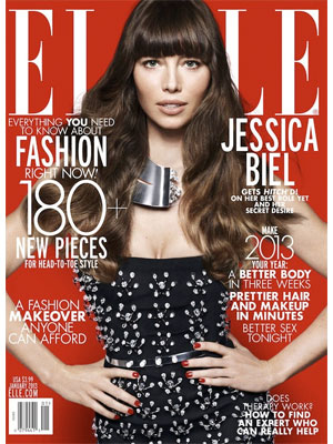 Jessica Biel, Elle Magazine, January 2013