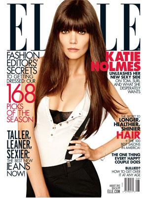 Katie Holmes, Elle Magazine, August 2012