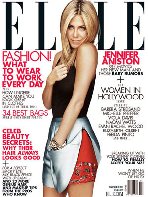 Elle, November 2011, Jennifer Aniston