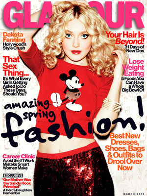 Glamour March 2013 Dakota Fanning