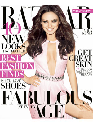 Harper's Bazaar, April 2012, Mila Kunis