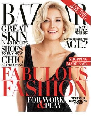 Kate Hudson, Harper's Bazaar Magazine, October 2012