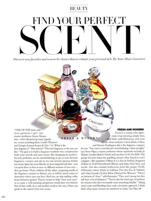 Calvin Klein Obsessed for Women Perfume editorial Harper's Bazaar Beauty