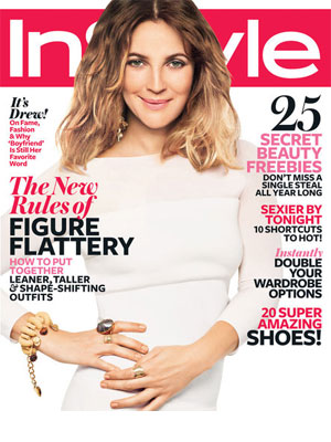 InStyle, February 2012, Drew Barrymore