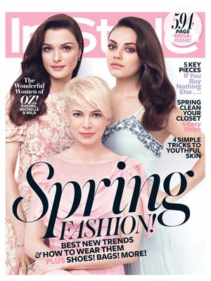 InStyle March 2013 Mila Kunis, Rachel Weisz, Michelle Williams
