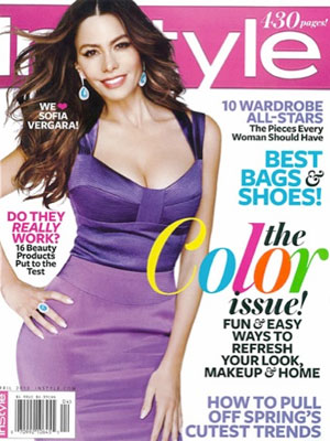 InStyle, April 2012, Sofia Vergara