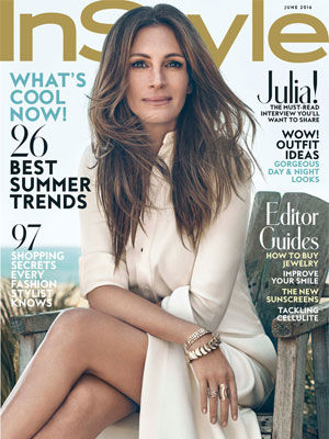 Julia Roberts InStyle Magazine June 2016