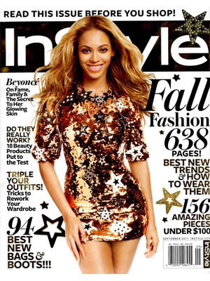 InStyle, September 2011, Beyonce