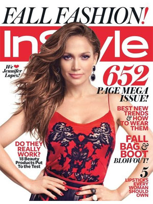 InStyle September 2012, Jennifer Lopez