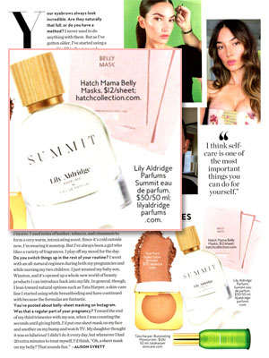 Lily Aldridge Summit Perfume editorial InStyle