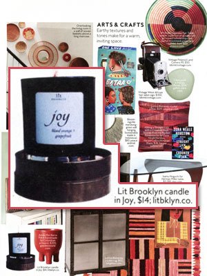 Lit Brooklyn Candle editorial InStyle