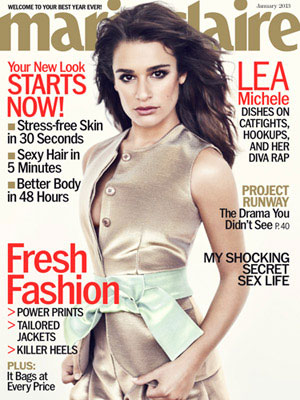 Lea Michele, Marie Claire Magazine, January 2013