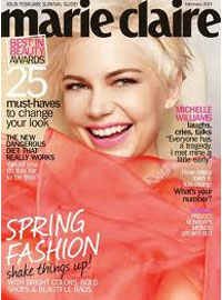 Marie Claire Magazine, Feb 2011, Michelle Williams