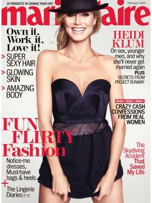 Heidi Klum, Marie Claire Magazine, February 2013
