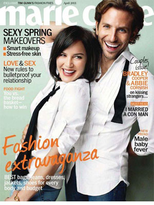 Marie Claire, Apr 2011, Bradley Cooper and Abbie Cornish
