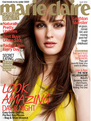 Marie Claire, April 2012, Leighton Meester