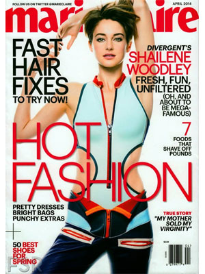 Marie Claire April 2014, Shailene Woodley