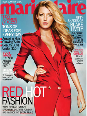 Blake Lively, Marie Claire Magazine, July 2012
