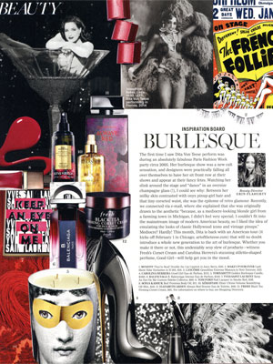 Carolina Herrera Good Girl Perfume editorial Marie Claire Burlesque Beauty