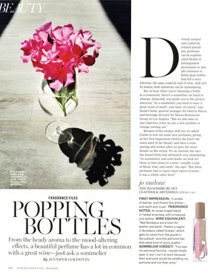 Jo Malone The Bloomsbury Set Perfume editorial Marie Claire Popping Bottles
