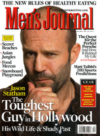 Men's Journal Magazine, Feb 2011, Jason Statham