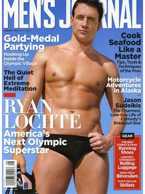 Men's Journal, August 2012, Ryan Lochte