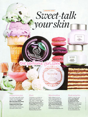The Body Shop Holiday Fragrances Perfume editorial Sweet Skin Care