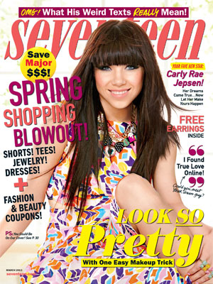 Seventeen March 2013 Carly Rae Jepson