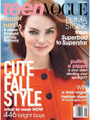 Teen Vogue, September 2011, Emma Stone