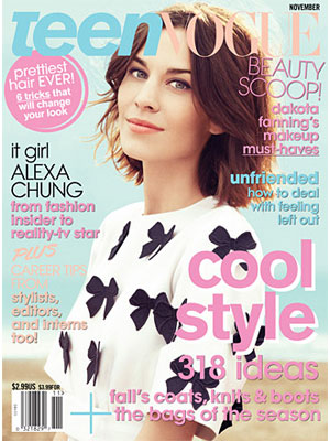 Teen Vogue, November 2011, Alexa Chung