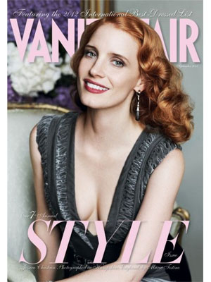 Vanity Fair, September 2012, Jessica Chastain
