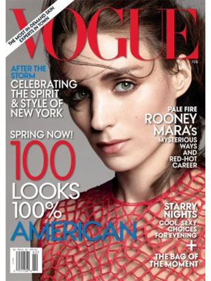 Rooney Mara, Vogue Magazine, February 2013
