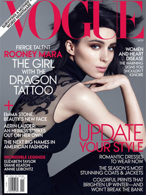 Vogue, November 2011, Rooney Mara